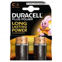 DURACELL PLUS POWER C2 BATTERIES - PACK OF 2