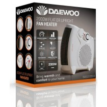 Electric Portable Flat/Upright Fan Heater - 2000W