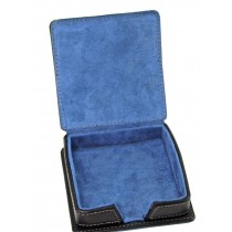 Black Faux Leather Note Holder