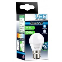 Supacell Led G45 Golf Bc (B22) Base 5W Energy Saving Light Bulb - Cool Day White