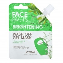 Face Facts Brightening Wash Off Gel Mask - Green Tea - 60ml