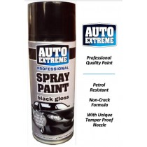 Auto Extreme Professional Spray Paint for Perfect Gloss Finish - Black Gloss - 400ml