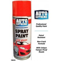 Auto Extreme Professional Spray Paint for Perfect Gloss Finish - Red Gloss - 400ml