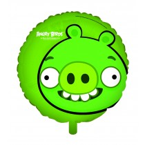 """ANGRY BIRDS GREEN PIG FOIL BALLOON - 18"""""""