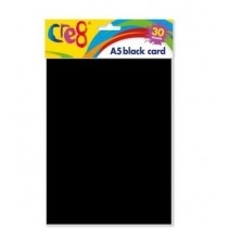 Cre8 A5 Card Sheets - Black - Pack of 30