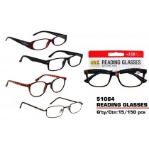 Prescription Based Designer Reading Glasses with Spring Hinges +3.50