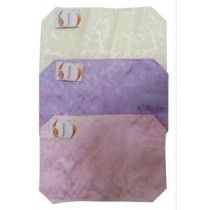 Silky Fabric Place Mat - 3 Assorted Colours