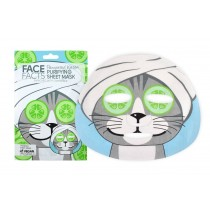 Face Facts Printed Sheet Mask - Cucumber & Honey - 20ml