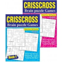 Crisscross Brain Puzzle Games Book - 27 x 20cm