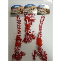 Pet Touch - Doggy Play Toy Rope - Designs And Colours May Vary