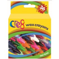 Cre8 Non-Toxic Wax Crayons - Pack of 36