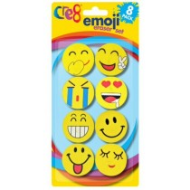 Cre8 Emoji Eraser Set - Pack of 8
