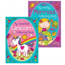 Unicorn/Mermaid Colouring Book - Assorted - 27 x 19.5cm - 0% VAT