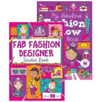 Fabulous Fashion Sticker Book - 29.5 x 21cm - 0% VAT