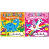 Unicorn & Dinosaur Magic Painting Book - 20 x 20cm - 0% VAT