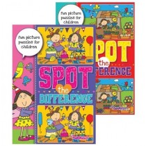 Squiggle A4 Spot The Difference Puzzle Book for Children - Assorted Designs - 29.5 x 21cm