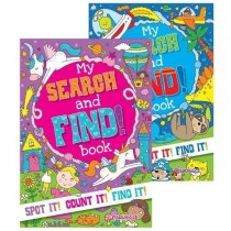 Squiggle A4 My Search & Find Activity Book - Assorted Designs - 29.5 x 21cm