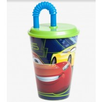 Cars 3 Tumbler with Straw - 430ml