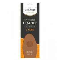Crosby Shoe Care - Breathable Synthetic Leather Insoles - Pack of 2 Pairs