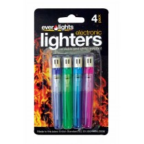 Pack of 4 Refillable Electronic Lighters