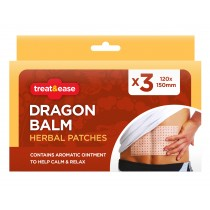 Dragon Balm Herbal Patches - 12 x 15cm - Pack of 3