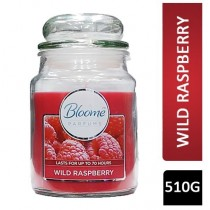 Bloome Perfumes Glass Candle - Large - Wild Raspberry - 510g