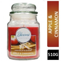 Bloome Perfumes Glass Candle - Large - Apple & Cinnamon - 510g