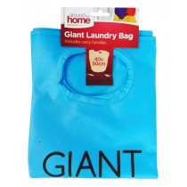 Around the Home Giant Laundry Bag with Carry Handles - Blue - 40 x 50cm
