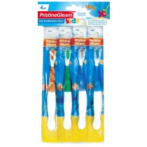 Kids Toothbrushes - Pack of 4 - 4 Colours