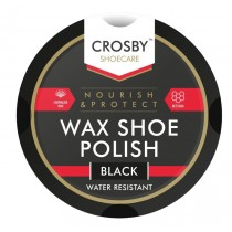 Crosby Black Tin Wax Shoe Polish - 50ml