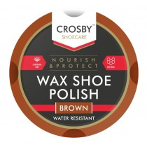 Crosby Brown Tin Wax Shoe Polish - 50ml