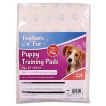 Feathers 'n' Fur Puppy Training Pads - 50 x 40cm - White - Pack of 5