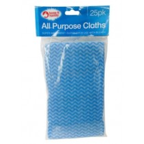 Keep It Handy Super Absorbent All Purpose Clothes - Blue/White - Pack of 25