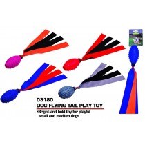 Pets That Play Fetch & Retrieve/Squeaky Dog Flying Tail Play Toy - For Small/Medium Dogs - Assorted Colours
