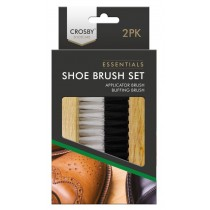 Crosby Shoe Care - Shoe Brush Set - Assorted Brush Pack of 2
