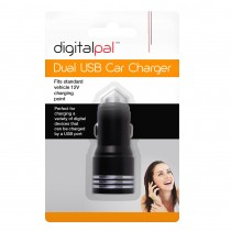 Digital Pal Twin 2 Port 12V Dual USB Car Charger Cigarette Socket Lighter - 2.1A
