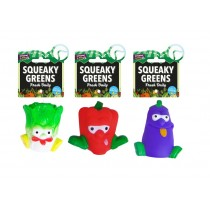 Cooper & Pals Squeaky Greens Vegetable Dog Toy - Assorted Shapes