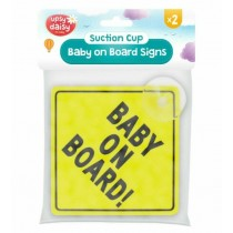 Upsy Daisy Suction Cup Baby on Board Signs - Pack of 2