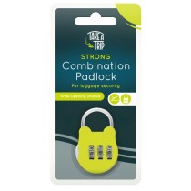 Take A Trip Strong Combination Padlock for Luggage Security with Wide Opening Shackle - Green
