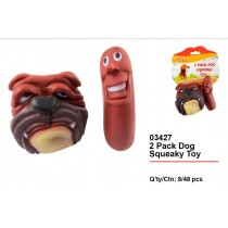 Pet Buddies Dog Squeaky Toy - Pack of 2 - Assorted Colours