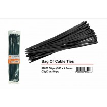 Black Cable Ties - 300mm x 4.2mm - Pack of 50
