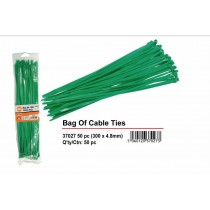 Green Cable Ties - 300mm x 4.2mm - Pack of 50
