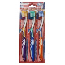 Claradent Toothbrush - Medium - Assorted Colours - Pack of 3