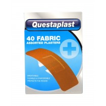 Questaplast Fabric Plasters - Assorted Plasters - Pack of 40