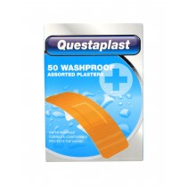Questaplast Washproof Plasters - Assorted Plasters - Pack of 50