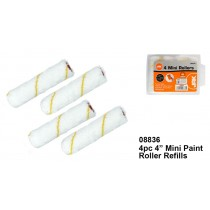Mini Paint Roller Refills - Pack of 4
