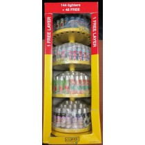 4 Tier Clipper Reusable Lighters - Mix 4 - 144 + 48 Free Lighters