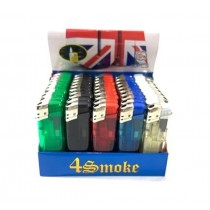 4Smoke Electronic Lighter - Assorted Colours - Pack of 50