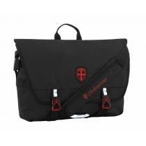 Ellehammer Water Repellent Messenger Bag - Black - 45 x 11 x 29cm - 16L