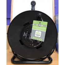 Pifco 4 Way/Gang Extension Reel with Re-Settable Safety Thermal Cutout - 50 Metres